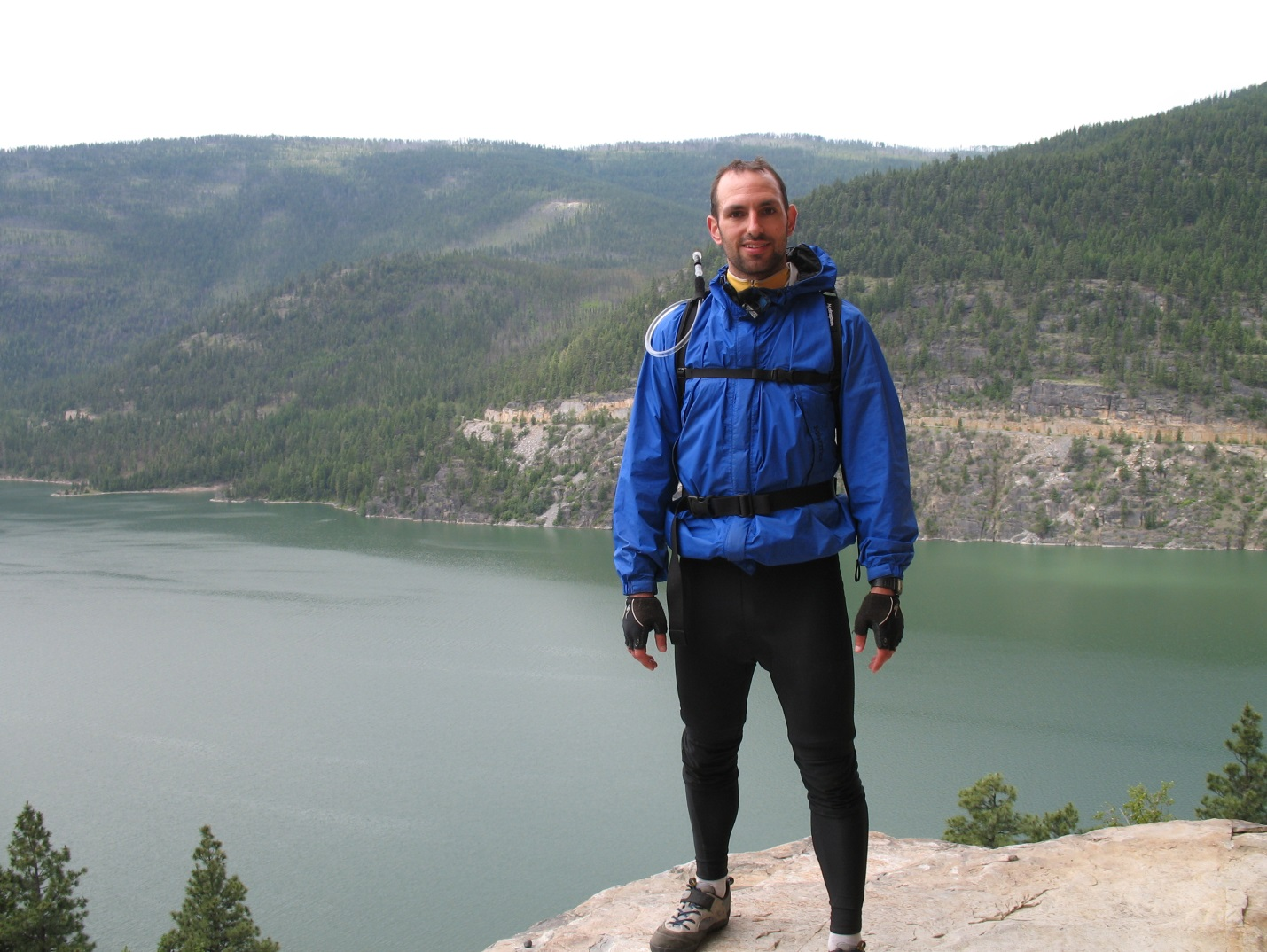 Standing over Lake Koocanua in Montana a few minutes before my accident, 2006