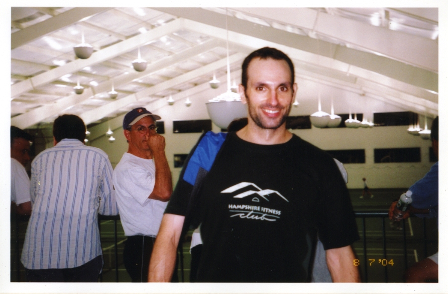 Immediately after upsetting one of the best players in the USTA Districts tournament, 2004